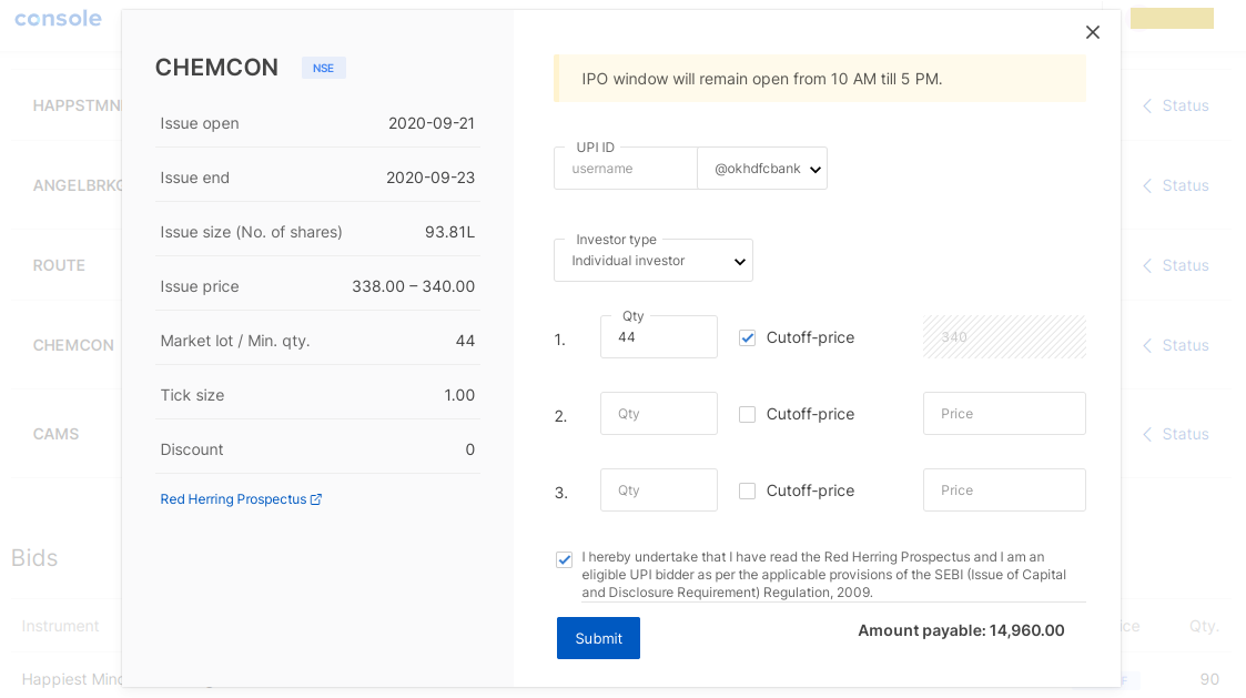 How to apply for an IPO in Zerodha